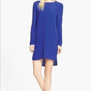 Wayf Long Sleeve Crepe Shift Dress M (Nordstrom)